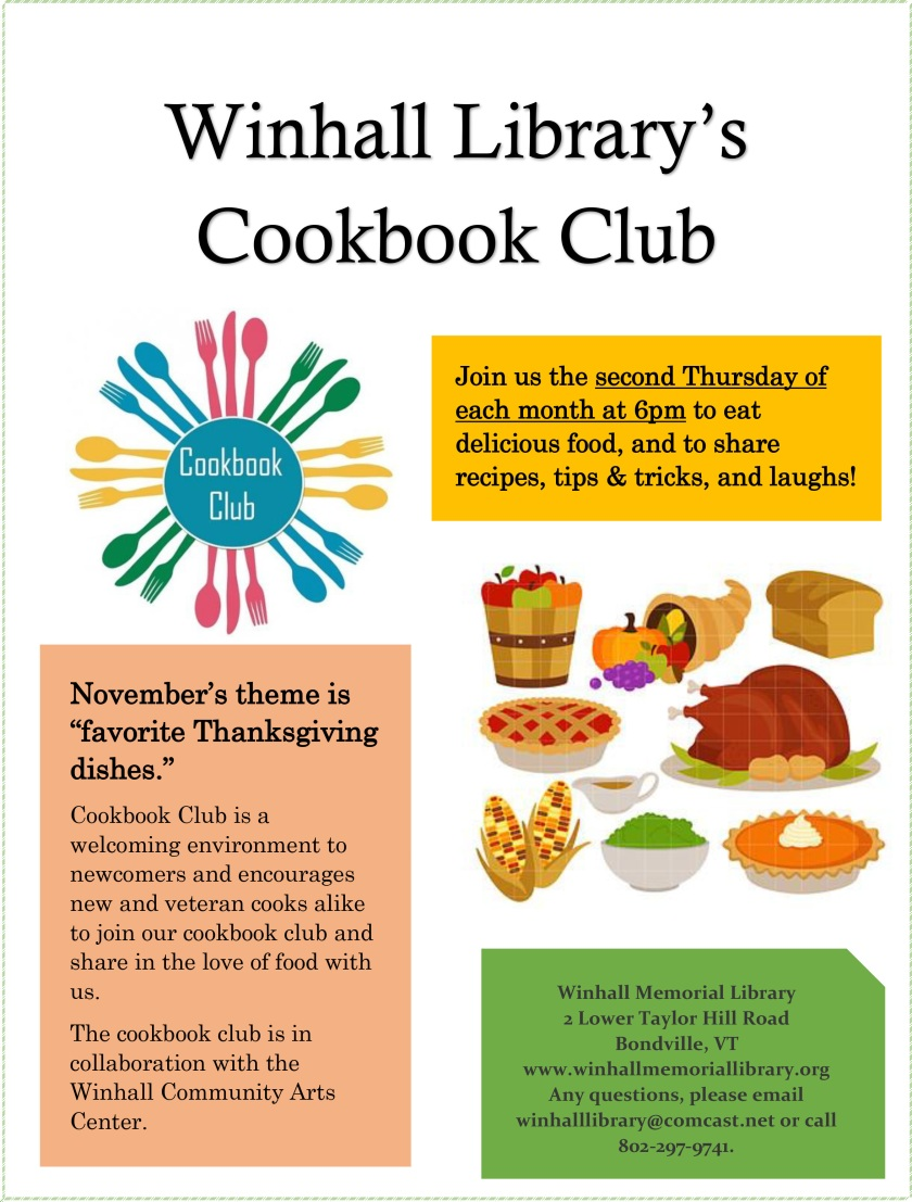 Cookbook Club Nov