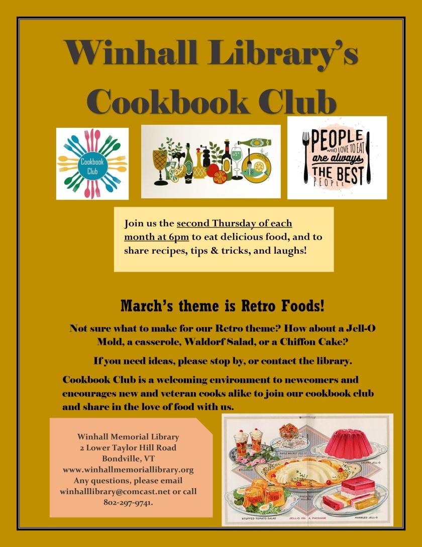 Cookbook Club Mar-18