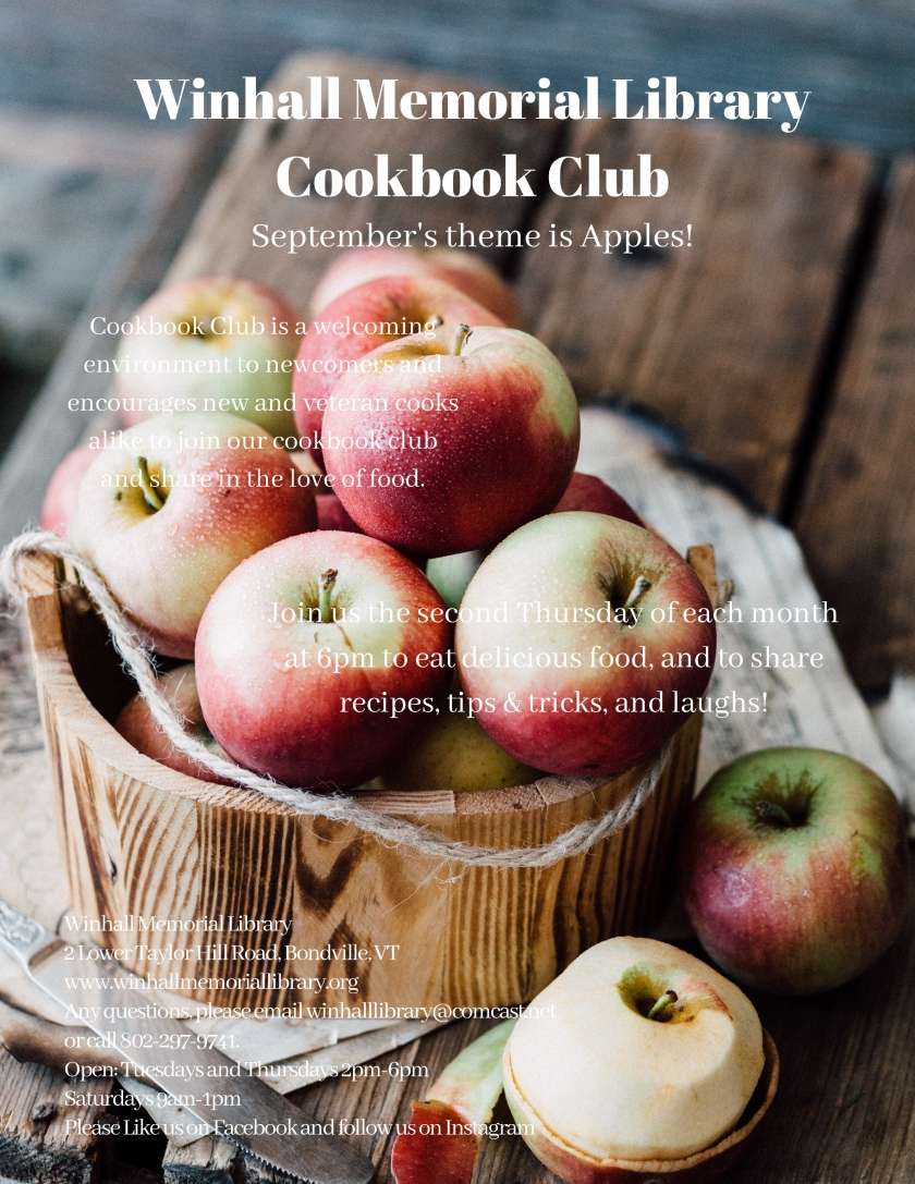 Winhall Memorial Library Cookbook Club Aug 18.jpg