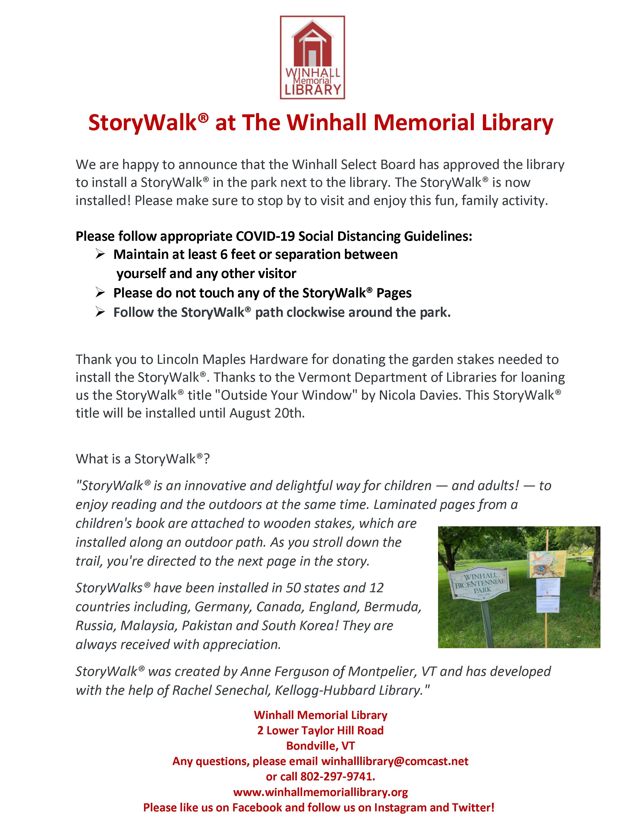 StoryWalk® Pub Flyer